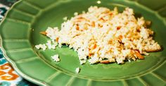 Our recipe for Paleo Cauliflower Coconut Rice is the perfect rice replacement for Thai or Asian entrées, with a coconut flavor and crunchy almonds! Salad Dishes, Veggie Dishes, Vegetable Recipes, Salads, Coconut Cauliflower Rice, Coconut Rice, Yummy Veggie, Yummy Food, Paleo Vegetables