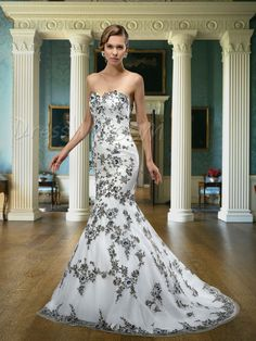 $273.89 Dresswe.com SUPPLIES Fatanstic Mermaid/Trumpet Floor-length Embroider Zipper-up Sweetheart Neck Wedding Dress
