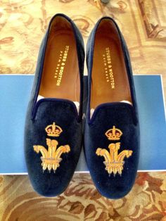 f69a8662ce7 Stubbs   Wootton royal blue slippers fuck a bogus ralph crest heres the  real deal.