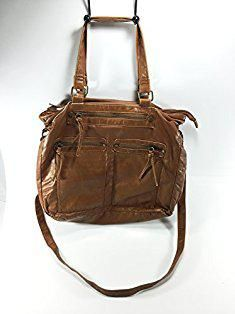 Mossimo Bags Supply Co Cognac Solid Zip Closure Mossimobags