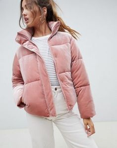 Find the best selection of ASOS DESIGN Petite ultimate puffer in velvet with funnel neck. Shop today with free delivery and returns (Ts&Cs apply) with ASOS! Winter Fashion Outfits, 50 Fashion, Autumn Winter Fashion, Fashion Tips, Fashion Women, Cheap Fashion, Fashion Styles, Fashion Online, Winter Jackets Women