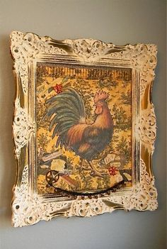 Ewe Creek Cottage:  Rooster ReDo by mixing media