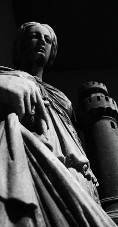 The Fortitude, represented as a #woman with a #tower in her hand, in the Grande Museo del #duomodimilano #milancathedral