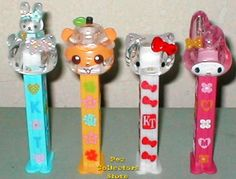 Photo by Pez Collectors: Crystal Hello Kitty Pez with Prints along with Bunny or Red Bow