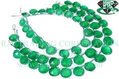 18 pieces Of Green Onyx Faceted Coin Semiprecious Gemstone Beads, Quality AAA, to mm, 18 cm, Semi Precious Beads, Semi Precious Gemstones, Tourmalinated Quartz, Bead Store, Green Onyx, Chandelier Earrings, Gemstone Beads, Turquoise Necklace, Unique Jewelry
