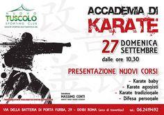 Domenica 27 Settembre dalle ore 10,30, presentazione dei nuovi corsi di Karate Wado Ryu AIKAM  EVENTO GRATUITO APERTO A TUTTI