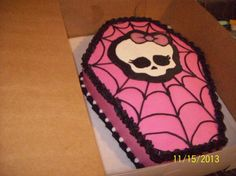 Monster High Coffin Cake by Jayme Sue's Cakes