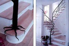 Wonderful staircase railing. #trees