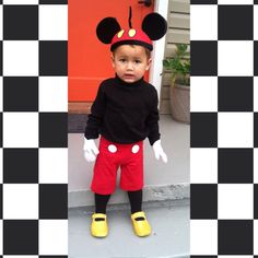 Toddler Mickey Mouse #diy #toddlerhalloween  sc 1 st  Pinterest & Happy Halloween DIY Make your own Mickey Mouse Costume. Mickey Mouse ...