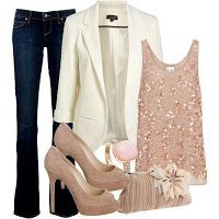 Date night outfit; not necessarily flared jeans or pumps. Komplette Outfits, Dressy Outfits, Night Outfits, Fashion Outfits, Womens Fashion, Vegas Outfits, Woman Outfits, Club Outfits, Look Casual Otoño