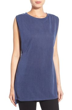 Halogen® Side Pleat Sleeveless Jersey Tunic available at #Nordstrom