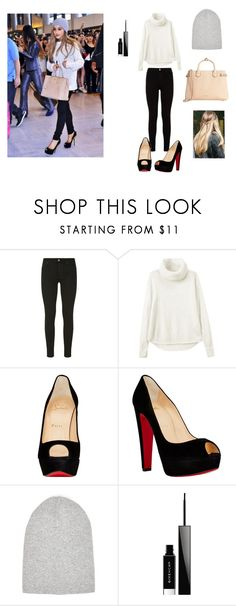 """""""Get the look Ariana Grande."""" by marion31 ❤ liked on Polyvore featuring 7 For All Mankind, Christian Louboutin, River Island, Givenchy and Burberry"""