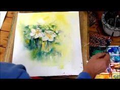 How to Paint White Flowers in Watercolour by Sheila Gill - Part 2 - YouTube