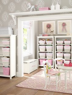 Get playroom ideas and inspiration from Pottery Barn Kids. Shop playroom furniture, and storage ideas from some of our favorite playrooms. Kids Storage Baskets, Toy Storage Bins, Door Storage, Storage Ideas, Playroom Furniture, Playroom Decor, Pottery Barn Kids, Deco Kids, Toy Rooms