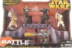 Star Wars BATTLEPACK JEDI VS SEPERATIST by Hasbro. $16.88. Sith apprentice Darth Maul is sent by a mysterious Sith Lord on a mission to eliminate the Jedi. Expertly wielding a double-bladed lightsaber, Maul serves his master and battles the Jedi Knights.. Jango Fett is the most skilled bounty hunter in the galaxy. Fett fires missiles from his gauntlet and uses his backpack to blast into the air to avoid capture.. Mace Windu uses his strength, agility, and masterful li...