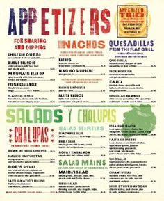 restaurant menu | Tumblr