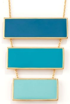 Trina Turk turquoise gold necklace