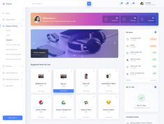 Dribbble - by Michał Rzankowski Best Ui Design, Flat Web Design, App Ui Design, User Interface Design, Dashboard Ui, Dashboard Design, Website Design Layout, Web Layout, Software