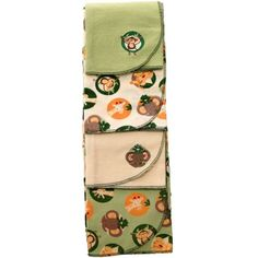 Jungle Theme baby receiving blankets   Jungle Babies - 4pk Receiving Blankets   World Traveler themed nurser ...