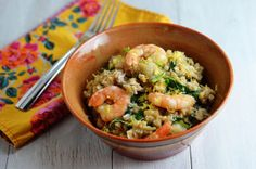 From our November #MonthofMeals: Slow Cooker Shrimp and Artichoke Barley Risotto by @Cara Lyons