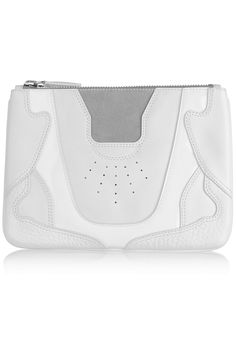 ALEXANDER WANG Paneled leather, patent-leather and suede pouch $238 http://www.theoutnet.com/products/659566