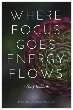 2 Easy Ways to Take Action TODAY to Focus your Energy | Tony Robbins | Zig Ziglar | Intentional with your life | Focus Your Energy
