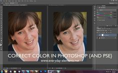 great step by step tut on color correcting in PS & PSE with live video tutorial too from @Amanda Padgett
