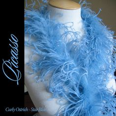 1ft 12inch star BLUE Curly Ostrich feathers by CurlyOstrich, $6.90