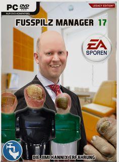 """""""Fusspilz-Manager 17"""" // Die Jimi Kannix Erfahrung ### Computerspiel, Cover, DVD, EA Sporen, EA Sports, Fussball-Manager, Fusspilz, Fusspilz-Manager, Manager, Parodie, PC, Playstation, Simulation, Spiel, X-Box,"""