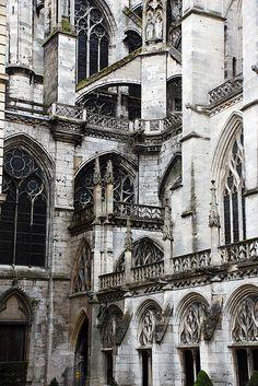 Gothic architecture - church of Saint-Ouen, Rouen - France, begun 1318