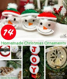 Give your Christmas tree that personal touch this year a make some homemade Christmas ornaments. Christmas crafts, DIY Christmas crafts.