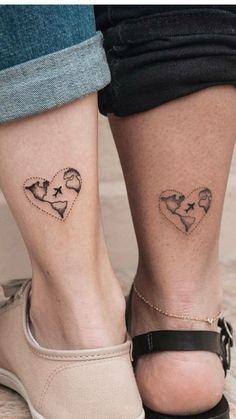 46 Lovely Matching Couple Tattoo Designs To Show Your Love - - Couple tattoo unique, couple tattoo matching, meaningful couple tattoo, small pretty couple tattoo - Bff Tattoos, Little Tattoos, Friend Tattoos, Mini Tattoos, Love Tattoos, Small Tattoos, Tattoos For Women, Tatoos, Meaningful Tattoos For Couples