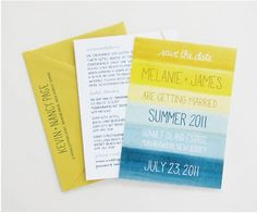 Wedding Invite - Beach Theme