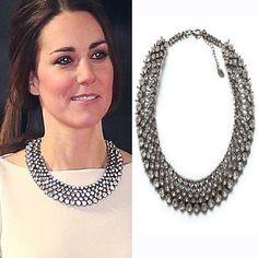 2017 New Kate Middleton collier colliers et pendentifs mode de luxe choker conception pendentif en cristal collier déclaration bijoux
