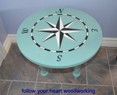 follow your heart woodworking: Making a Side Table my Own Way Compass Table