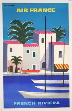 Art Déco 1930s Reise Poster Bandol Cote D/'Azur Französisch Riviera Vintage Retro