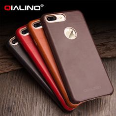 940616d2c0f QIALINO high quality Calf Skin Genuine Leather Phone Case for iphone 7 4.7  inch   7 Plus 5.5 inch Ultra thin color back Cover-in Fitted Cases from ...