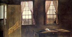 Andrew Wyeth, Her Room, 1963- at the Farnsworth Museum, Rockland Maine