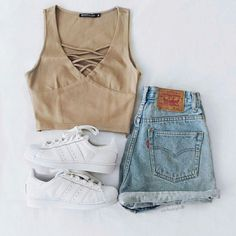 I love everything in this outfit, especially the top. Would like to invest in some adidas such as these, but with black stripes :)