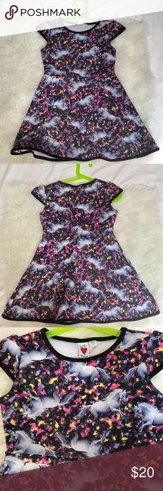 Love rocks Unicorns Dress So Rad! This Unicorn dress is so eye catching and beautiful. Dresses
