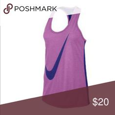 Nike Dri-Fit Tank Nike Women's Swoosh Out Dri-blend Tank The Nike Swoosh Out Dri-blend Tank is a must. For performance and fashion, this loose-fitting racerback tank is a go to workout top. Shirt is too small for me. I'm usually a M/L. Nike Tops Tank Tops