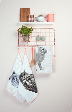 Present Time Copper Kitchen Rack Open Grid - Present Time from My Haus UK Wire Kitchen Rack, Copper Kitchen, Kitchen Shelves, Kitchen Storage, Kitchen Dining, Red Kitchen Accessories, Copper Home Accessories, Room Accessories, Interior Accessories