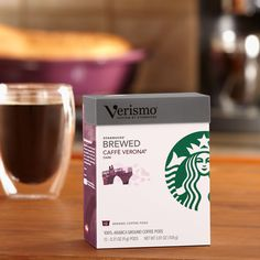 Verismo™ Caffè Verona Brewed Coffee Pods  A full-bodied, darker-roasted blend of coffees with the sweet touch of Italian Roast. Tasting Notes  Dark Cocoa & Roasty Sweet Enjoy this with:  Chocolate truffles and dinner guests. Roast Dark   $11.95 12 servings  http://websites-buy.com/starbucks-coffee-store