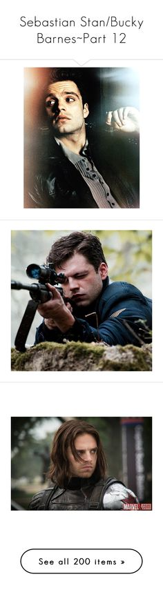 """""""Sebastian Stan/Bucky Barnes~Part 12"""" by unicorns-and-sugarcubes ❤ liked on Polyvore featuring bucky barnes, marvel, marvel/dc, captain america, avengers, sebastian stan, collage, bucky, pictures and men"""