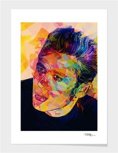 Curioos.com | James Dean by Alessandro Pautasso  - Gallery Quality Art Print