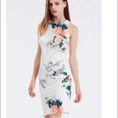 HOST PICK 7/05White Sleeveless Floral  Dress White Sleeveless Floral Print Dress Pattern Type : Floral Sleeve Length : Sleeveless Color : White Dresses Length : Knee Length Style : Fashion Material : Polyester Neckline : Round Neck Silhouette : Sheath Decoration : Pattern Bust(cm) : S:86cm,M:90cm,L:94cm Waist Size(cm) : S:70cm,M:74cm,L:78cm Hip Size(cm) : S:87cm,M:91cm,L:95cm Length(cm) : S:95cm,M:96cm,L:97cm Size Available : S Dresses