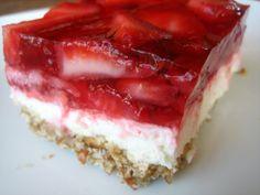 Strawberry Jello Pretzel Salad | BubbleCrumb