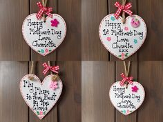 Personalised Mothers Day Mum Nan Gran Mummy Wooden Heart Plaque First 1St Gift