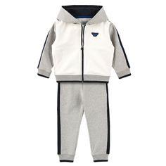 Armani Junior Stretch fleece hoodie and tracksuit pants - 75877 | Melijoe.com