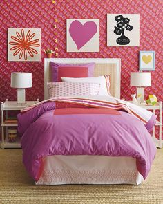 girls room serena and lily fun pop art and shades of pinks